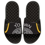 ISlide Golden State Warriors Youth Black Statement Jersey Split Slide Sandals