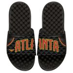ISlide Atlanta Hawks Youth Black Away Jersey Slide Sandals