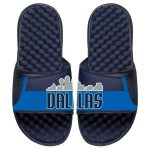 ISlide Dallas Mavericks Youth Navy Statement Jersey Split Slide Sandals