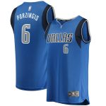Fanatics Branded Kristaps Porzingis Dallas Mavericks Royal Fast Break Replica Jersey - Icon Edition