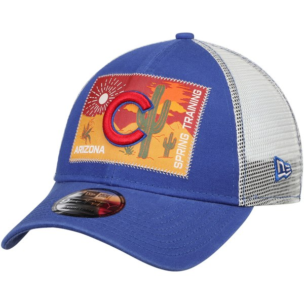 brand new 234cb 46222 New Era Chicago Cubs Royal White Patched Trucker 3 9FORTY Adjustable  Snapback Hat - Gear Up For Sports