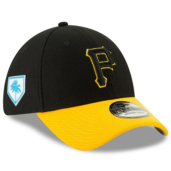 New Era Pittsburgh Pirates Black Yellow 2019 Spring Training 39THIRTY  Fitted Hat - Gear Up For Sports 9ab5f559d63