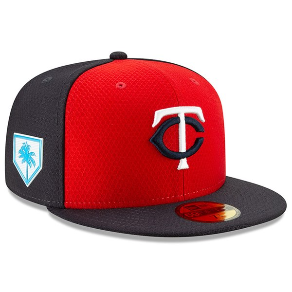 huge discount 0c0d6 899ed New Era Minnesota Twins Red Navy 2019 Spring Training 59FIFTY Fitted Hat -  Gear Up For Sports