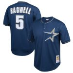 Mitchell & Ness Jeff Bagwell Houston Astros Youth Navy Cooperstown Collection Mesh Batting Practice Jersey
