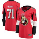 Fanatics Branded Chris Tierney Ottawa Senators Women's Red Home Breakaway Player Jersey