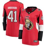 Fanatics Branded Craig Anderson Ottawa Senators Women's Red Home Breakaway Player Jersey