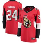 Fanatics Branded Oscar Lindberg Ottawa Senators Women's Red Home Breakaway Player Jersey