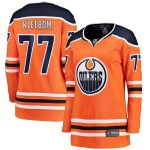 Fanatics Branded Oscar Klefblom Edmonton Oilers Women's Orange Home Breakaway Player Jersey
