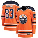 Fanatics Branded Matt Benning Edmonton Oilers Women's Orange Home Breakaway Player Jersey