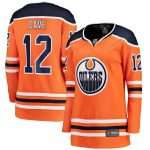 Fanatics Branded Colby Cave Edmonton Oilers Women's Orange Home Breakaway Player Jersey