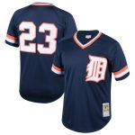 Mitchell & Ness Kirk Gibson Detroit Tigers Youth Navy Cooperstown Collection Mesh Batting Practice Jersey