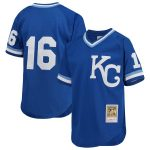 Mitchell & Ness Bo Jackson Kansas City Royals Youth Royal Cooperstown Collection Mesh Batting Practice Jersey