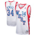 Mitchell & Ness Shaquille O'Neal Western Conference White 2004 All-Star Hardwood Classics Authentic Jersey