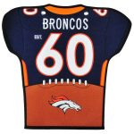 Denver Broncos 20'' x 18'' Jersey Traditions Banner
