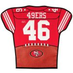 San Francisco 49ers 20'' x 18'' Jersey Traditions Banner