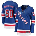 Lias Andersson New York Rangers Fanatics Branded Women's Home Breakaway Player Jersey - Blue