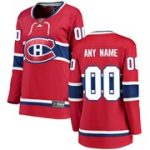 Fanatics Branded Montreal Canadiens Women's Red Home Breakaway Custom Jersey