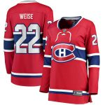 Fanatics Branded Dale Weise Montreal Canadiens Women's Red Home Breakaway Player Jersey