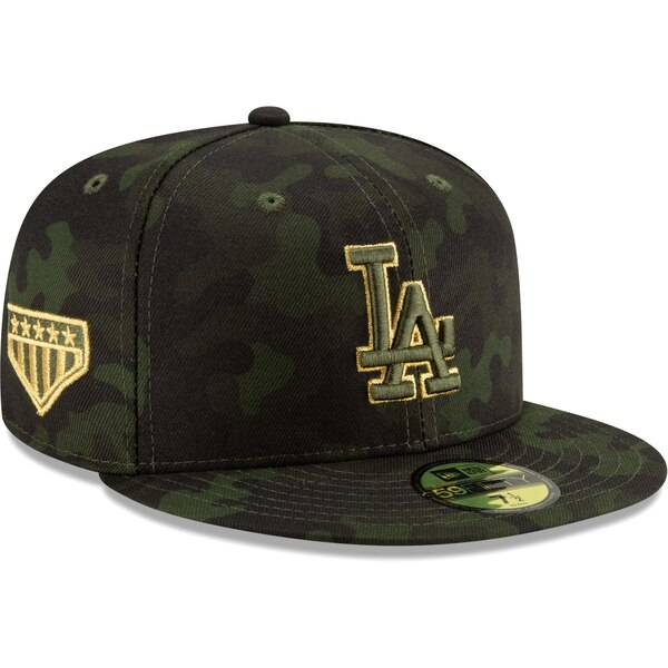 dbb1df11af4 ... Los Angeles Dodgers New Era 2019 MLB Armed Forces Day On-Field 59FIFTY  Fitted Hat – Camo May 17