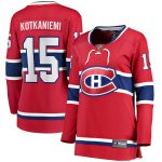 Fanatics Branded Jesperi Kotkaniemi Montreal Canadiens Women's Red Home Breakaway Player Jersey