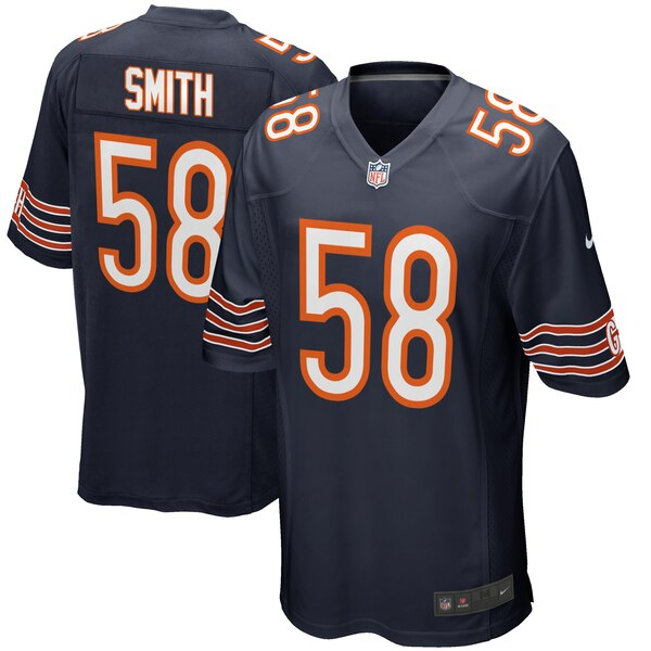 pretty nice b0ccd 1363a Nike Roquan Smith Chicago Bears Navy Game Jersey
