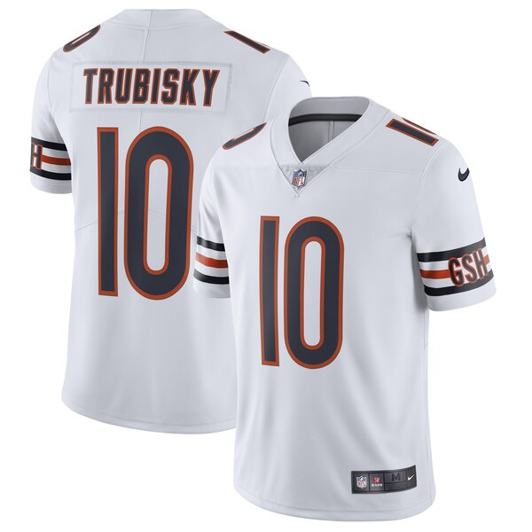 new arrival 18422 89956 Nike Mitchell Trubisky Chicago Bears White Vapor Untouchable Limited Jersey
