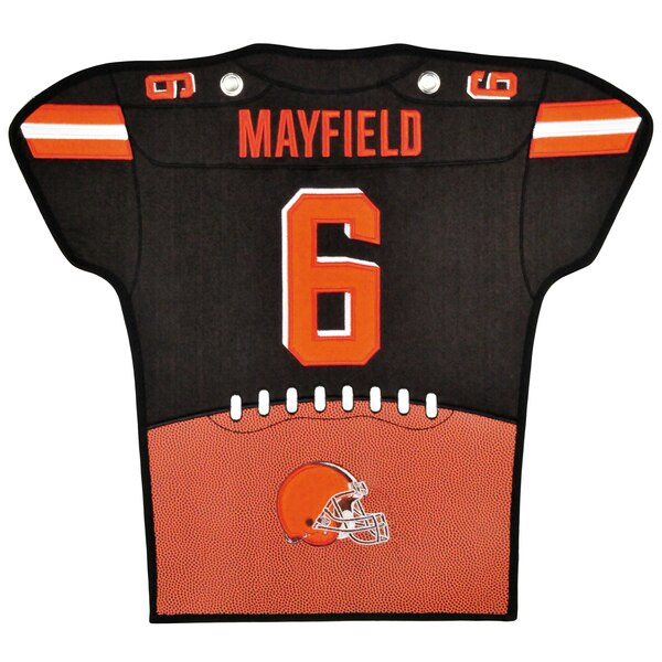 "reputable site f4533 05b23 Baker Mayfield Cleveland Browns 14"" x 22"" Jersey Traditions Banner –  Brown/Orange"