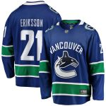 Fanatics Branded Loui Eriksson Vancouver Canucks Blue Breakaway Player Jersey