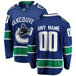 Fanatics Branded Vancouver Canucks Blue Home Breakaway Custom Jersey