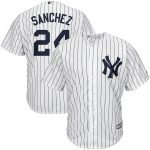 Majestic Gary Sanchez New York Yankees White/Navy Home Official Cool Base Player Jersey
