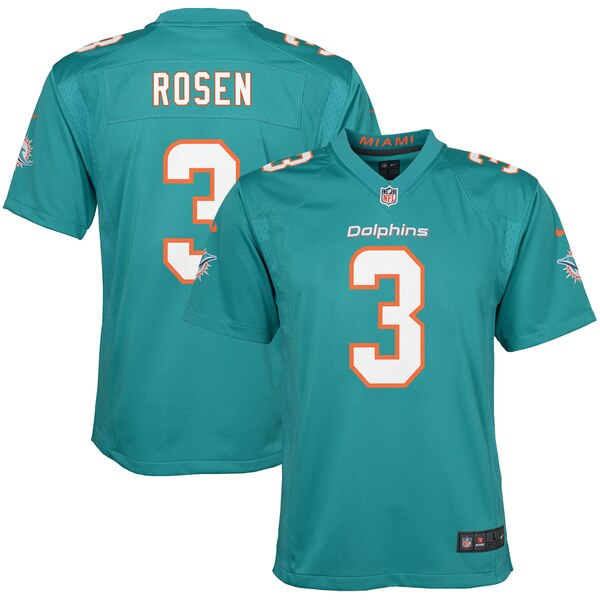 online store bf8a0 c222c Nike Josh Rosen Miami Dolphins Youth Aqua Game Jersey
