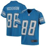 Nike T.J. Hockenson Detroit Lions Youth Blue Game Jersey