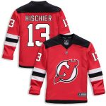 Fanatics Branded Nico Hischier New Jersey Devils Youth Red Replica Player Jersey