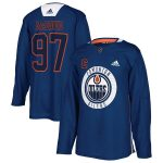 adidas Connor McDavid Edmonton Oilers Royal Practice Player Jersey