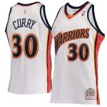 Mitchell & Ness Stephen Curry Golden State Warriors White Hardwood Classics 2009-10 Home Authentic Jersey