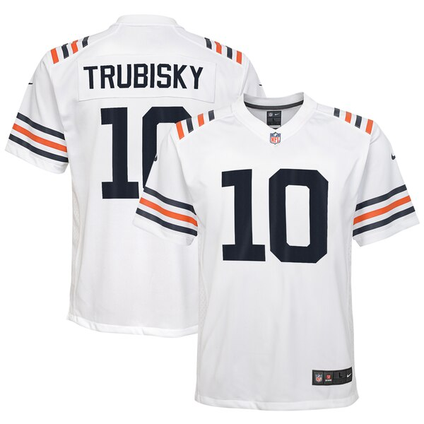 brand new adf00 eecec Nike Mitchell Trubisky Chicago Bears Youth White 2019 Alternate Classic  Game Jersey