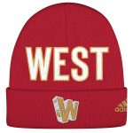 adidas Western Conference Red 2017 All-Star Game Official Weekend Cuffed Knit Hat