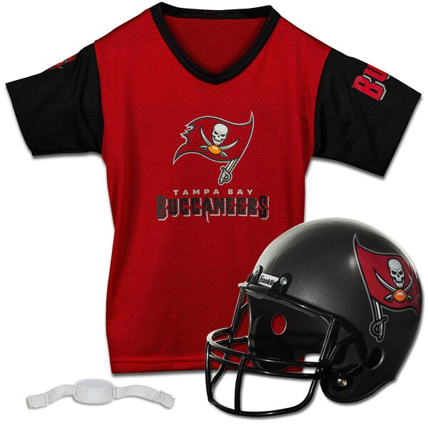 super popular 54b26 994a5 Franklin Sports Tampa Bay Buccaneers Youth Helmet and Jersey Set