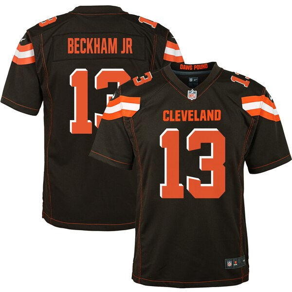 wholesale dealer 256e0 6cd3b Nike Odell Beckham Jr Cleveland Browns Youth Brown Game Jersey