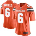 Nike Baker Mayfield Cleveland Browns Youth Orange Player Game Jersey