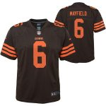Nike Baker Mayfield Cleveland Browns Youth Brown Color Rush Player Game Jersey