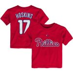 Majestic Rhys Hoskins Philadelphia Phillies Toddler Red Player Name & Number T-Shirt