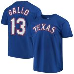 Majestic Joey Gallo Texas Rangers Royal Official Name & Number Player T-Shirt