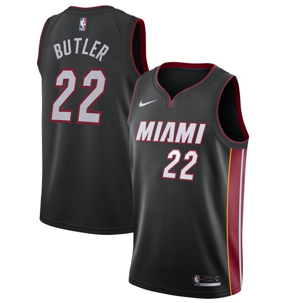 info for 11532 a0920 Nike Jimmy Butler Miami Heat Black 2019/20 Swingman Jersey – Icon Edition
