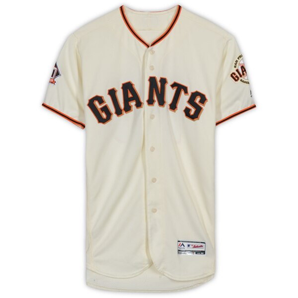 promo code 0f604 00201 Fanatics Authentic Joe Panik San Francisco Giants Game-Used #12 Cream  Jersey from Games Played on September 12th, 16th, 29th, and 30th during the  2018 ...
