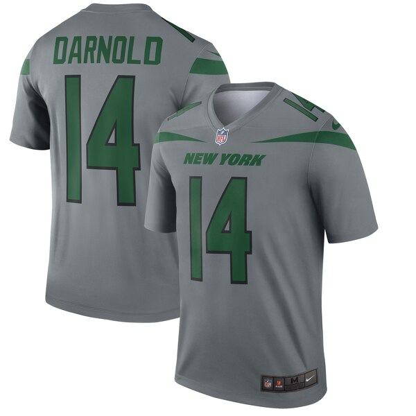 sneakers for cheap c6ecd 06054 Sam Darnold New York Jets Nike Gray Inverted Legend Jersey