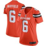 Nike Baker Mayfield Cleveland Browns Women's Orange Player Game Jersey