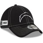 New Era Los Angeles Chargers Black 2019 NFL Sideline Road 39THIRTY Flex Hat