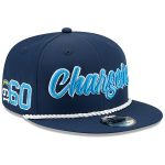 New Era Los Angeles Chargers Navy 2019 NFL Sideline Home Official 9FIFTY 1960s Snapback Adjustable Hat