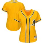 Majestic Oakland Athletics Women's Gold Alternate Cool Base Replica Team Jersey